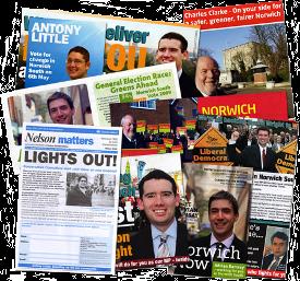 Lots of political leaflets.