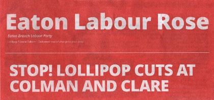 The Labour Party's Lollipop Special, delivered free of charge in my local area.