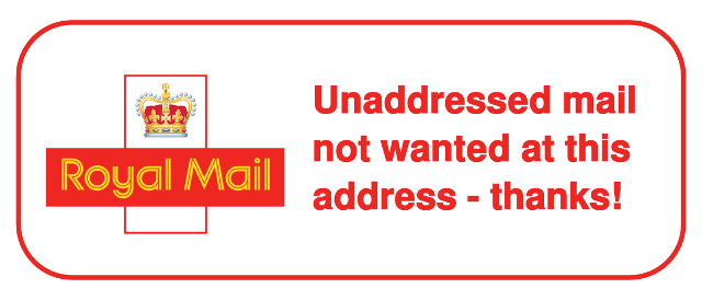 Royal Mail opt-out sticker | Stop Junk Mail