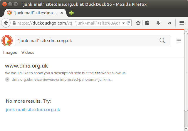 The DMA's exclusive deal with Google | Stop Junk Mail