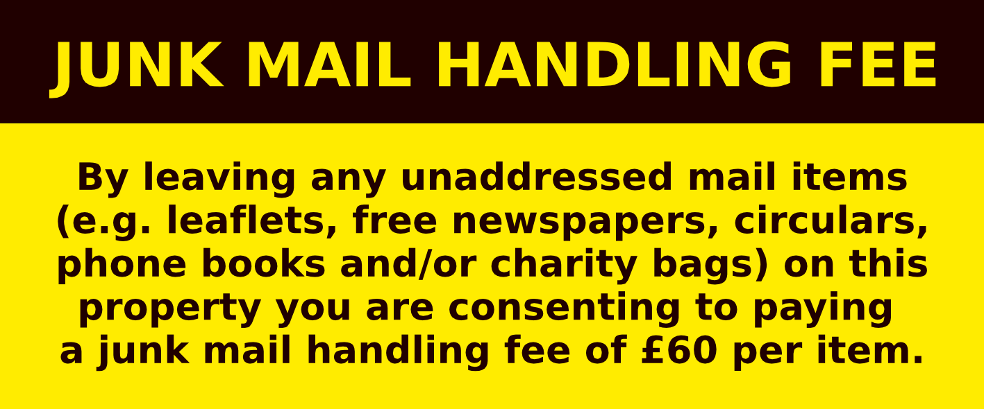 The junk mail handling fee   Stop Junk Mail