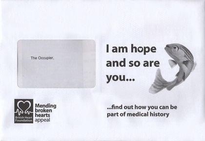 Junk mail from the British Heart Foundation.