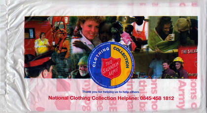 Junk mail from Salvation Army.