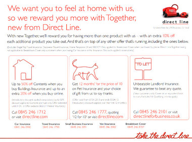 Junk mail from Direct Line.