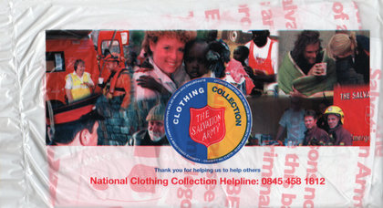 Junk mail from the Salvation Army.