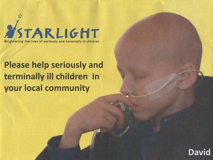 Junk mail from Starlight's Children Foundation.