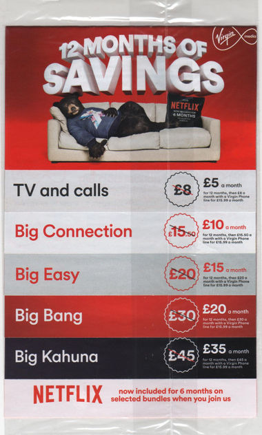 Junk mail from Virgin Media.