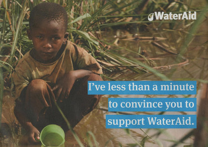 Junk mail from Water Aid.