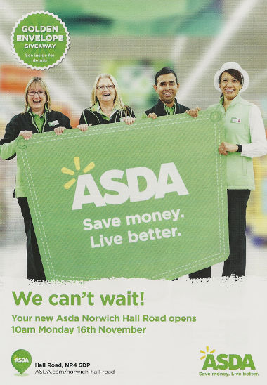 Junk mail from Asda.