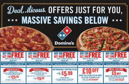 Junk mail from Domino's Pizza.