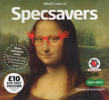 Junk mail from Specsavers.