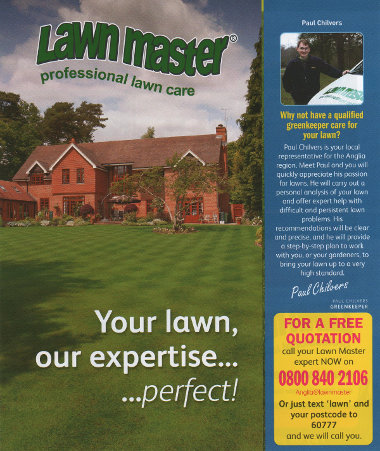 Junk mail from Lawn Master.
