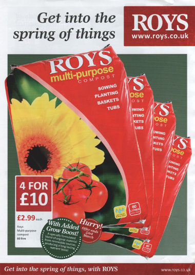 Junk mail from Roys of Wroxham.