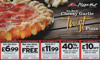 Junk mail from Pizza Hut.