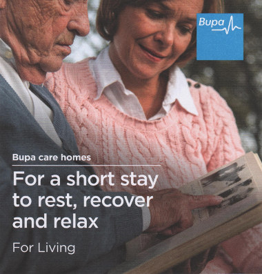 Junk mail from Bupa.