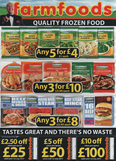Junk mail from Farmfoods.