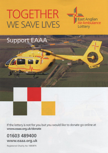 Junk mail from the East Anglian Air Ambulance.