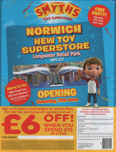 Junk mail from Smyths.