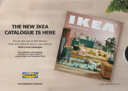 Junk mail from Ikea.