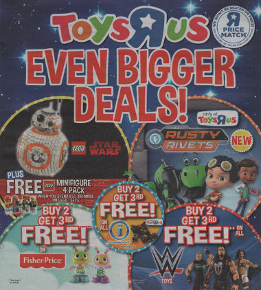 Junk mail from Toys R Us.