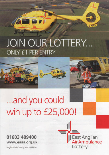 Junk mail from the East Anglia Air Ambulance.