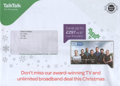 Junk mail from Talk Talk.