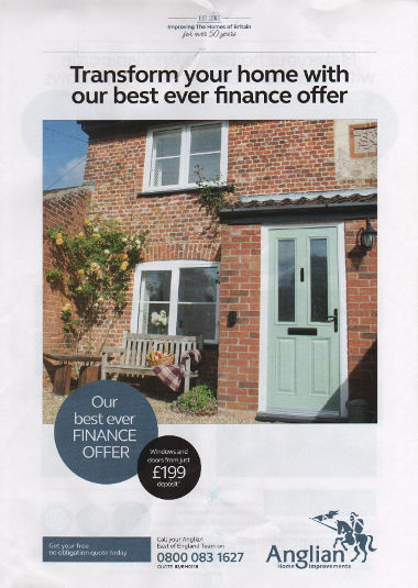 Junk mail from Anglian Home Improvements.