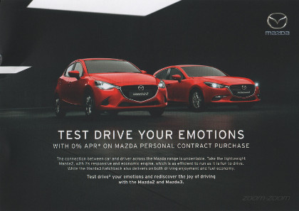 Junk mail from Mazda.